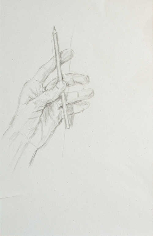Left Hand with Pencil