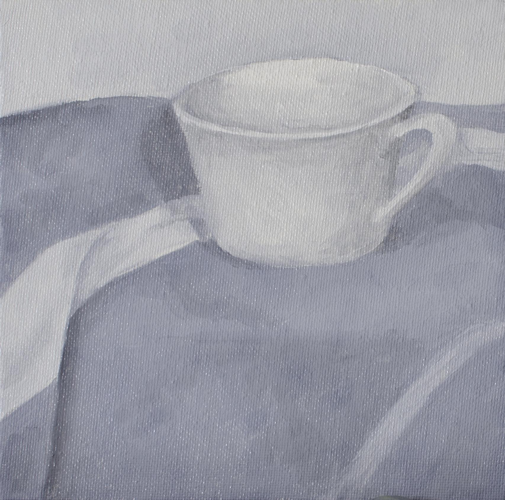 Teacup, Jul 7, 2015, Oil on Canvas Board, 6