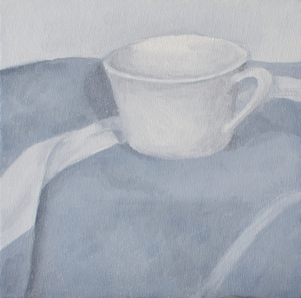 Teacup, Jul 7, 2015, Oil on Canvas Board, 6
