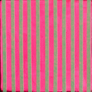 "Pink Stripes WIPA, Feb 7, 2016, Acrylic on Canvas, 6"" X 6"""