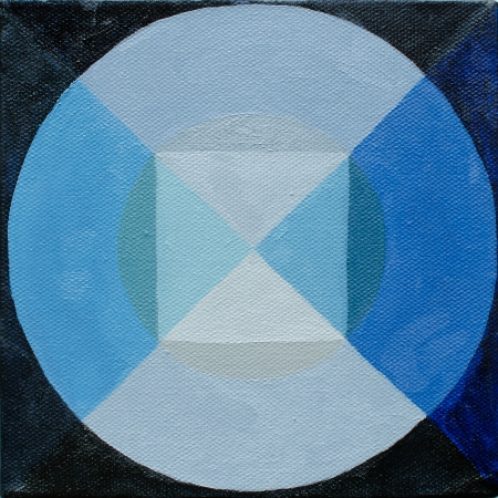 Circle Composition Two, Apr 16, 2016, Oil on Canvas, 6″ X 6″