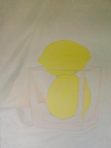 """Two Lemons WIP, Jul 18, 2016, Oil on Canvas, 30"""" X 40"""""""