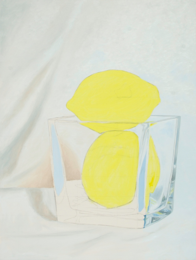 Two Lemons WIP, Jul 23 2016, Oil on Canvas, 30″ X 40″
