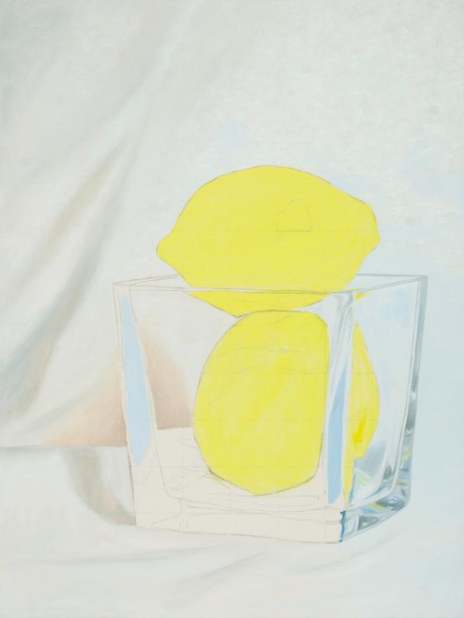 Two Lemons WIP, Jul 23 2016, Oil on Canvas, 30″ X 40″