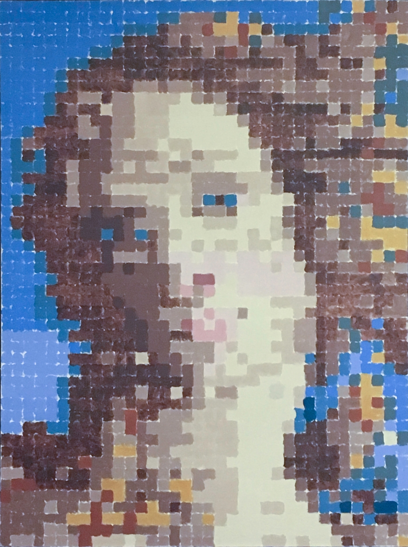 "Venus Averaged, 1995, Acrylic on Canvas, 33"" X 45"""