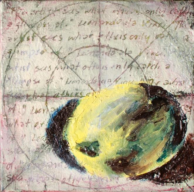 Circle Composition Seven, Nov 5, 2016, Oil on Canvas, 6″ X 6″