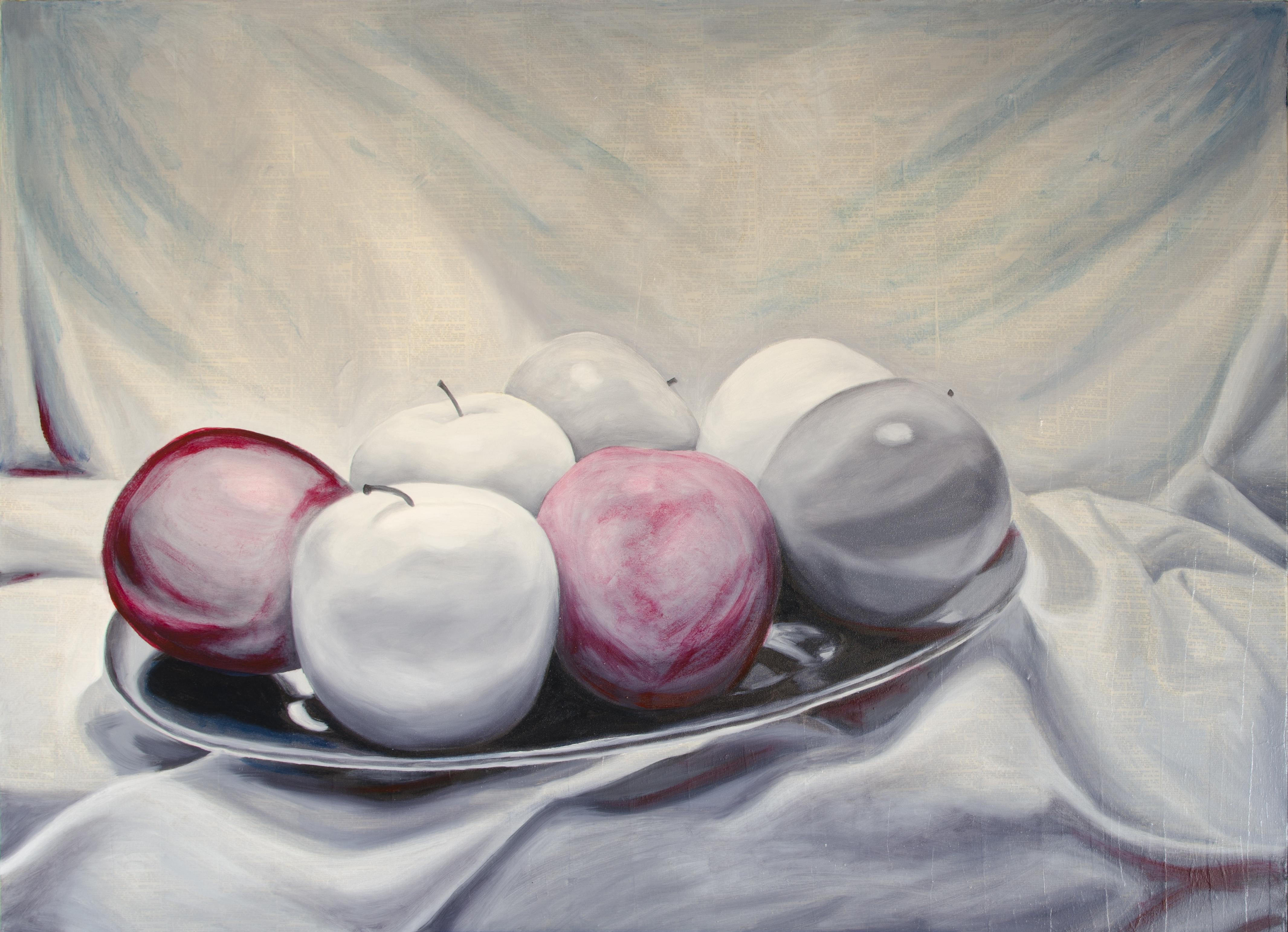 "Seven Apples, Dec 17, 2016, Oil on Canvas, 48"" X 36"""