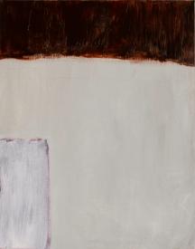 "Panel 2 WIP, Jan 1, 2017, Acrylic on Birch Panel, 11"" X 14"""