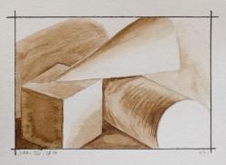 "Jan 26, 2018, Walnut Ink on Strathmore 300 Series Watercolour, 7"" X 5"""