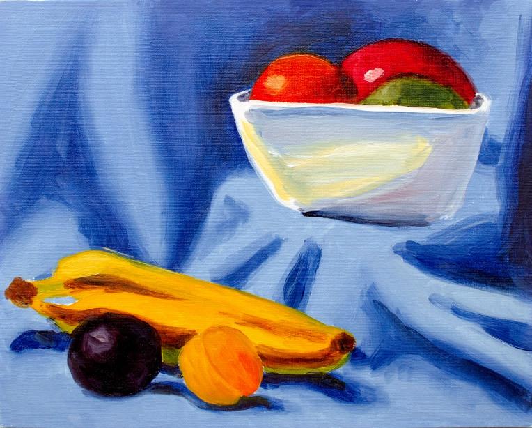 "Warm Modern Still Life, Jun 23, 2018, Oil on Canvas Board, 10"" X 8"""