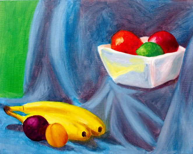 "Cool Modern Still Life, Jun 30, 2018, Oil on Canvas Board, 10"" X 8"""