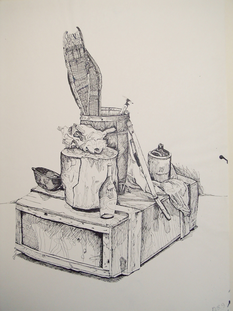 Everything in Front of You, 1988, Ink on Newsprint