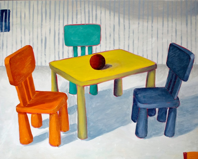 "Family, Mar 30, 2019, Oil on Birch Panel, 20"" X 16"""