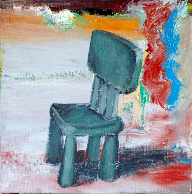 "Waiting, Mar 30, 2019, Oil on Canvas Board, 10"" X 10"""