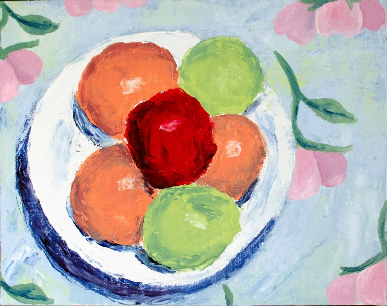 "Forbidden Fruit, Apr 13, 2019, Oil on Canvas Board, 14"" X 11"""